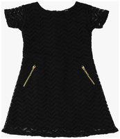 Kids On Board Baby girl Lace Solid Princess frock - Black