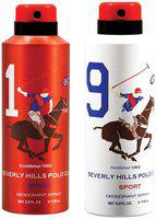 Beverly Hills Polo Club Sport Deodorant Spray No 1 9 (Pack Of 2) For Men (350ml)