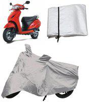Capeshoppers Bike Body Cover Silver For Honda Activa Scooty