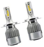 C6 H-4 LED Headlight 36W/3800LM Conversion Kit Car High/Low Beam Bulb Driving LA 6000K of (2 Pcs) For SKODA LAURA