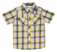 ShopperTree Boy Cotton Solid Shirt Yellow