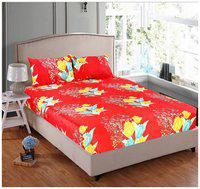 Welhouse India Present Daily Used 3D Printed 1 Double bedsheet with 2 Pillow Covers