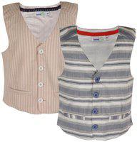 ShopperTree Boy Linen Solid Kurta pyjama set - Multi