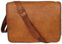 Anshika International Brown Leather Sling bag
