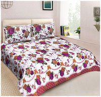 PolyCotton Single Size Designer 144 TC Flat Bed Sheet