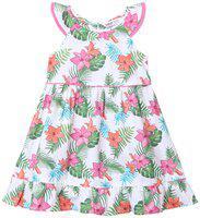 Beebay Baby girl Cotton Solid Princess frock - Multi