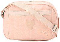 Puma Beige Polyester Solid Sling Bag
