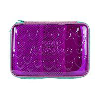 Smily PVC Pencil case (Purple)   pencil pouch for girls stylish  pencil case for Boys & Girls   Kids & School pencil case   stationery items   cute pencil case for girls   zipper pencil case