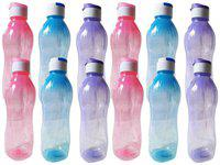 GREENVIJI Plastic Assorted Water Bottle ( 1000 ml , Set of 1 )