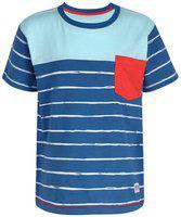 SUPERYOUNG Boy Cotton Striped T-shirt - Blue