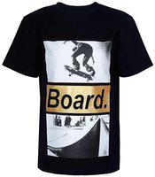 SUPERYOUNG Boy Viscose Printed T-shirt - Black