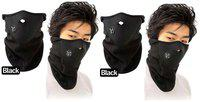 MARKETWALA Neoprene Fleece Neck W Face Mask For Bike Bicycle Motorbike Free Size in Assorted color (Pack Of 2) Assorted Color