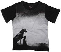 Wear your Mind Boy Poly cotton Printed T-shirt - Grey