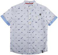 Poppers By Pantaloons Boys' Striped Regular Fit Shirt (110041469_Off White_11-12 YRS)