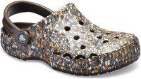 Crocs Baya Graphic Brown Back Strap Clogs