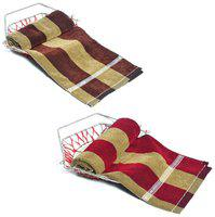 JARS Collections 350 GSM Cotton terry Bath Towel ( 2 Pieces , Multi )
