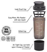 Protein Shaker bottle- 500ml (Random Color)