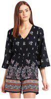 Trend Arrest Georgette Cut-out Dress (d503606_blue)
