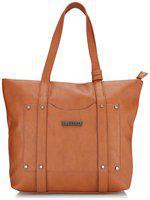 CAPRESE Faux Leather Women Handheld Bag - Tan