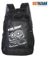 AMERICAN TOURISTER Unisex Black Graphic Print AMT PING Backpack