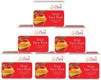 La Cura Fruit Face Pack (Pack Of 6 pc 60 g Each)
