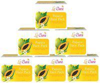 La Cura Papaya Face Pack (Pack Of 6 pc 60 g Each)