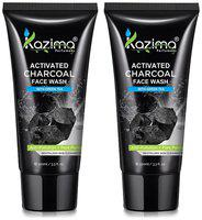 Kazima Activated Charcoal Face Wash With Green Tea For Anti Pollution Anti Acne (Combo Pack 2 Pcs Of 100 ml)