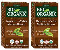 Indus Valley Bio Organic Herbal Medium Brown Henna Hair Colour (Grey Coverage)
