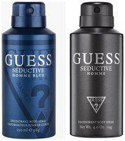Guess Seductive Home Blue Seductive Home Deodorant Spray - For Men (300 Ml Pack of 2)