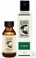 Beardo The Classic Combo - Beard And Hair Fragrance Oil (30 ml) And Beard Wash (100 ml)
