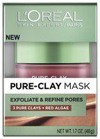 L'Oreal Paris Pure Clay Mask, Exfoliate & Refine Pores, 48gm