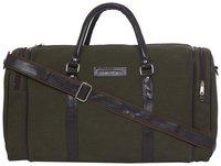 Mboss Faux Leather Men Duffle BagGreen