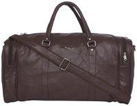 Mboss Faux Leather Men Duffle BagBrown