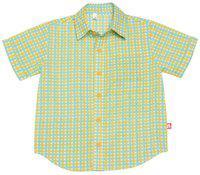 Nino Bambino Boy Cotton Solid Shirt Orange