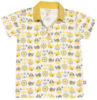 Nino Bambino Boy Cotton Solid T-shirt - Multi