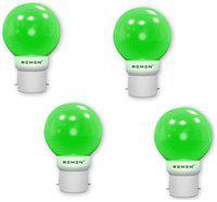 REMEN 0.5W Night Bulb, B22,Combo Pack, Pack of 4 (Green)