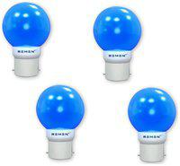 Remen 0.5W Night Bulb, B22,Combo Pack, Pack of 4 (Blue)