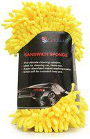 CarSaaz Super Large Size(26X6X12 cm) Sandwich Design Car Washing/Kitchen Cleaning/Household Cleaning Sponge