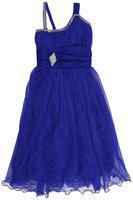 Kidling Girls' Knee Length Dress (K-4008-Blue-22_Blue_2-3 Years)
