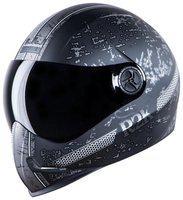 Steelbird Adonis R2K Full Face Helmet Mat Black/Grey With Smoke Visor Large 600 MM