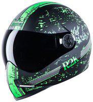 Steelbird Adonis R2K Full Face Helmet Mat Black/Green With Smoke Visor Large 600 MM