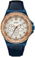Guess Force White Dial Multi-function Men's Watch -W0674G7