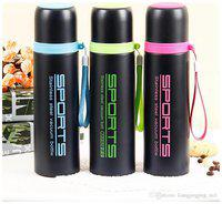 LOGGER Stainless Steel Assorted Water Bottle ( 550 ml , Set of 3 )