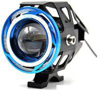 STAR SHINE 1 Pieces U11 CREE-LED - Head Hunters LED Projector 3000LMW Headlight Fog Lamp (Dual Ring Red Blue) Fog Light Free 1 PC Switch(Pack of 1) U11 Led Fog Light Blue Angel Eye (Blue) For TVS Jive