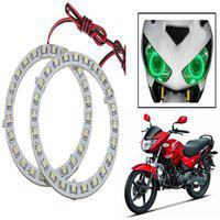 STAR SHINE Bike Stylish Green set of 2 Angel Eyes Fancy Light For Bajaj XCD 125CC-Set of 1