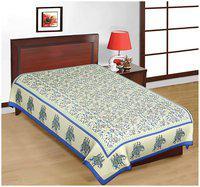 Fashion Dziner Cotton Modern Single Bedsheet ( 1 Bedsheet without Pillow Cover , Blue )