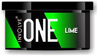 Involve ONE Lime Car Freshner - Leak Proof Organic Car Perfume (40 g)