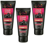 La Cura Charcoal Peel Off Face Mask 120ml (Pack of 3)