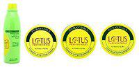 Lotus Professional Facial Kit For Normal To Oily Skin( pack Of 4) With Ayur Sunscreen Lotion 50ml