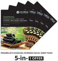 Mirabelle Korea Charcoal Premium Facial Sheet Mask (A Pack Of 5)
